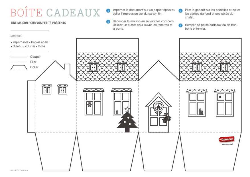 coffret cadeau imprimer la maison diy. Black Bedroom Furniture Sets. Home Design Ideas