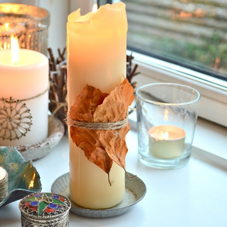 deco-automne-bougies-feuilles