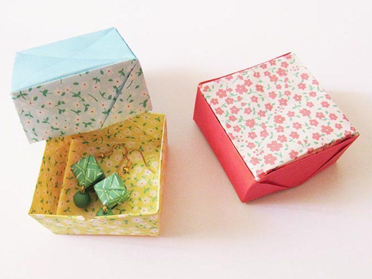 Faire une boîte à bijoux en origami
