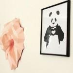 Fabriquer un trophée mural tête de lion en papier