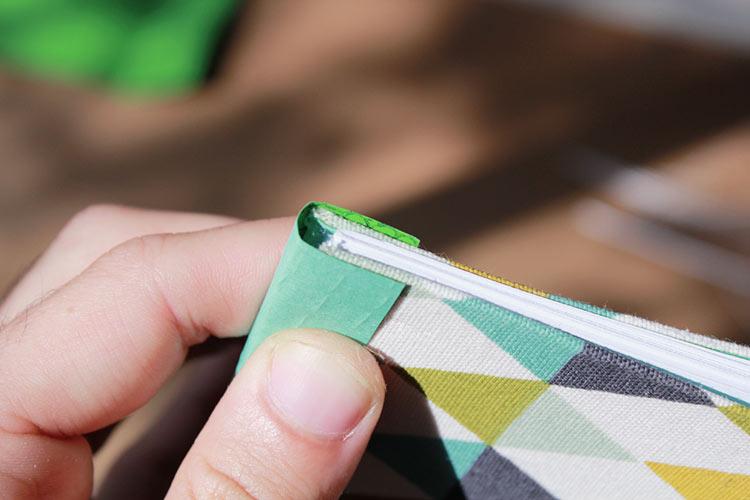carnet de notes avec couverture en tissu 11