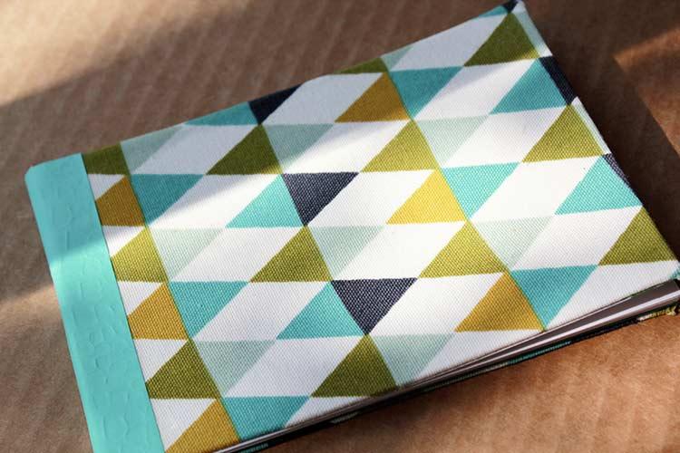 carnet de notes avec couverture en tissu 12