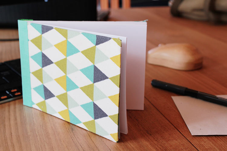 carnet de notes avec couverture en tissu 13