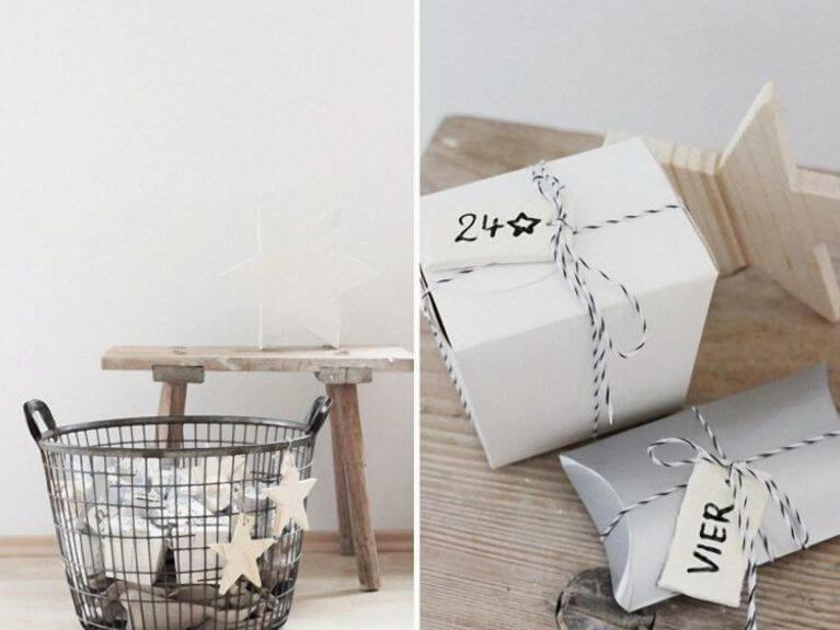 Faire un calendrier de l'Avent en boîtes en papier