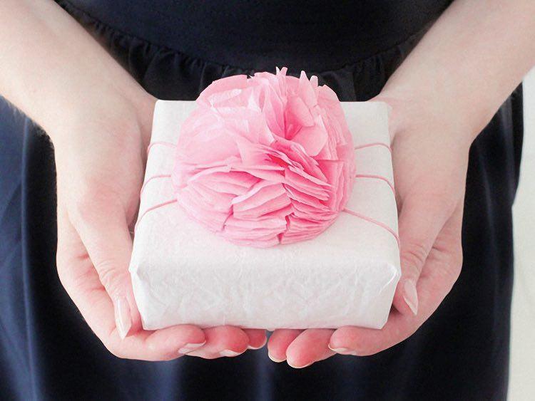 pompon d'emballage cadeau 2