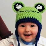 Crocheter un bonnet grenouille pour bébé