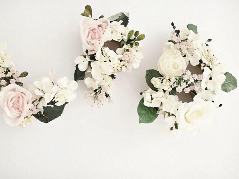 Créer des lettres avec des fleurs