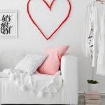 Idée Saint Valentin : déco murale originale avec cœur géant