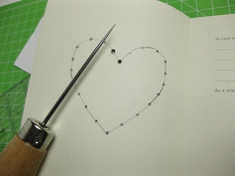 cœur sur un carnet 4