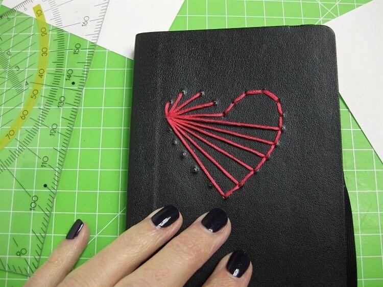 cœur sur un carnet 6