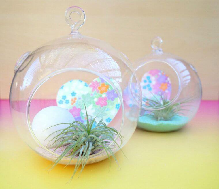 Cadeau original Saint Valentin : petit terrarium suspendu DIY