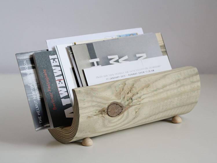 Fabriquer un porte lettre en bois minimaliste la maison diy - Fabriquer un porte buche ...