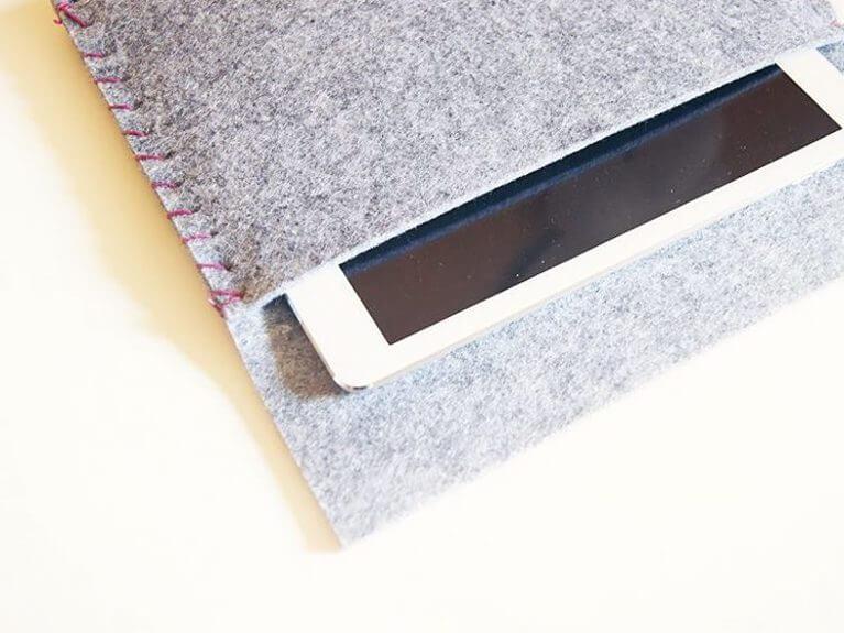 Faire une housse pour tablette en feutrine épaisse