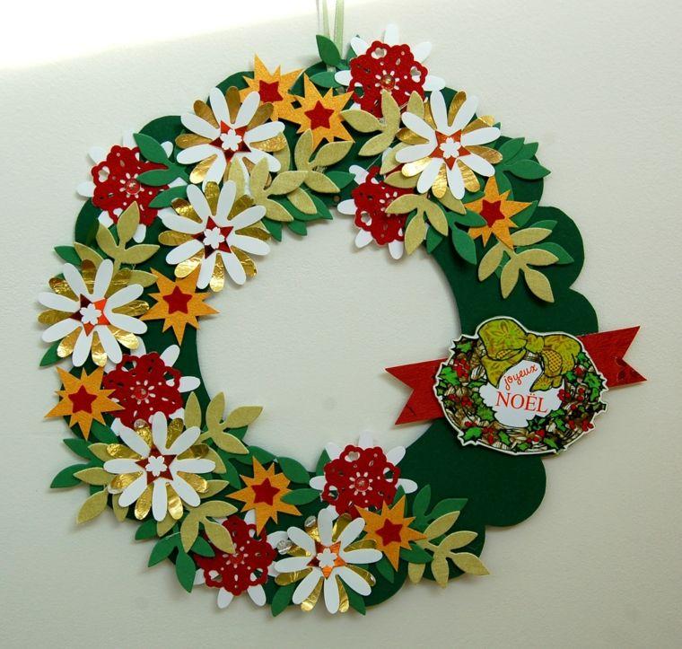 couronne-noel-tissu-fleurs-papier