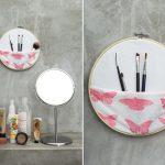 Fabriquer un rangement pour pinceaux de maquillage à partir d'un cercle à broder