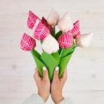 Comment coudre un bouquet de tulipes en tissu