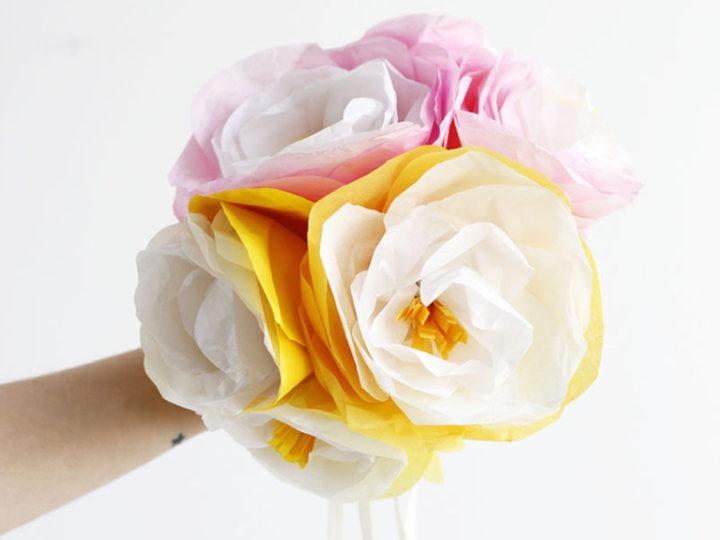 Créer un bouquet de fleurs en papier de soie