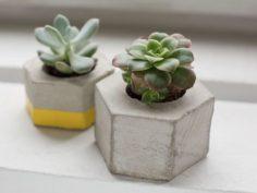 Fabriquer un cache-pot en béton hexagonal
