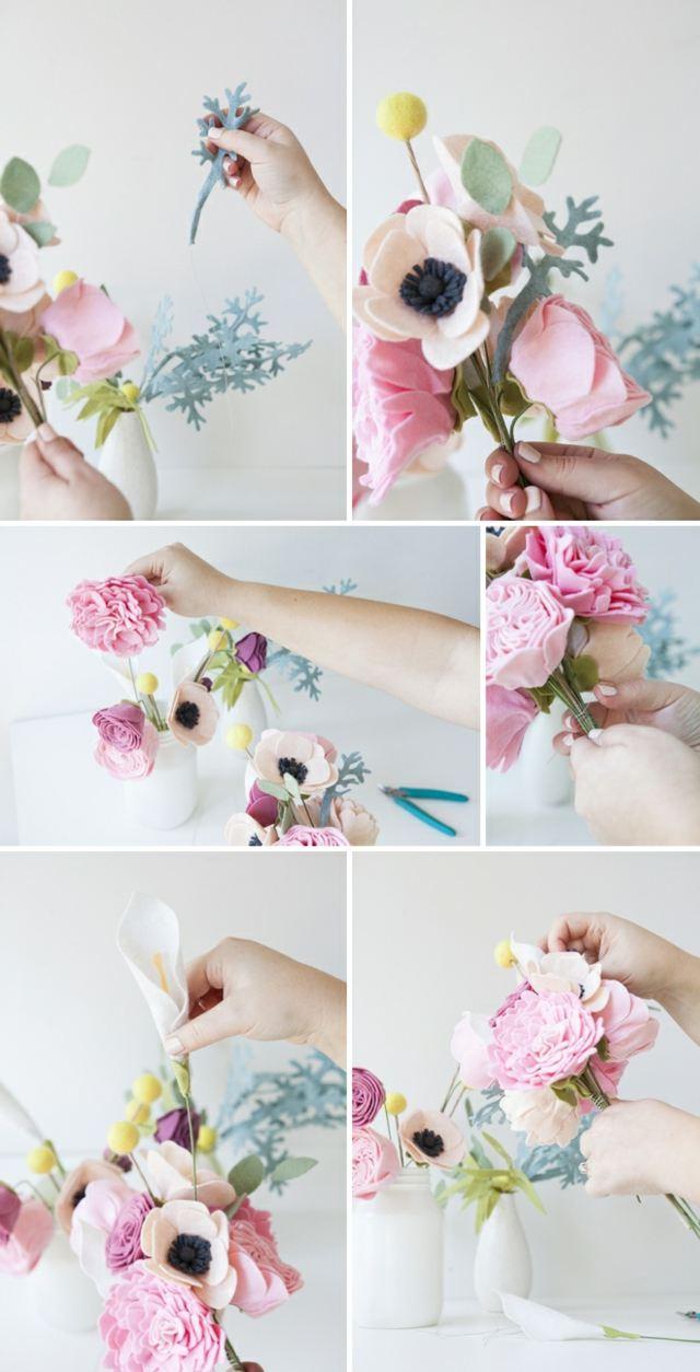 bouquet de mariage pérenne tutoriel deco volume fleur
