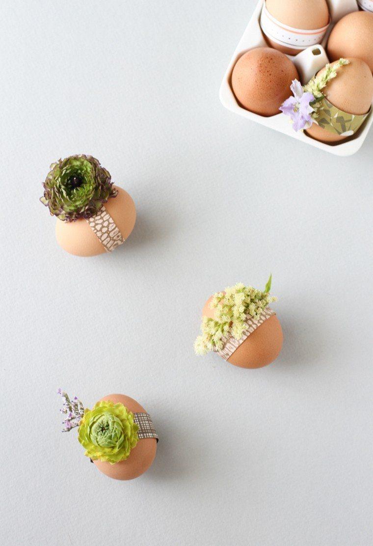 déco pâques idée table oeufs diy plante décorer espace