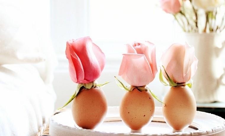 déco paques diy idée table oeufs fleurs décorer espace moderne idées