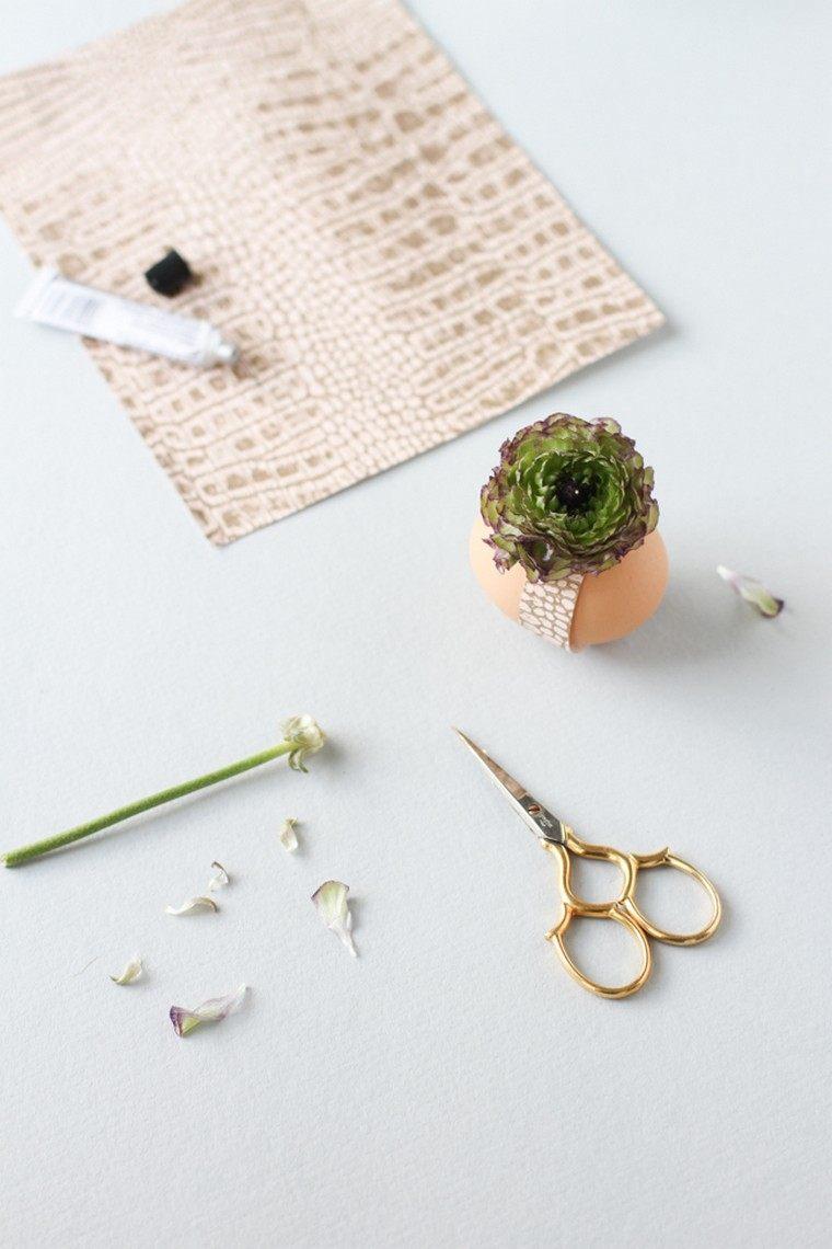 déco paques idée oeufs plante décorer idée de paques original diy
