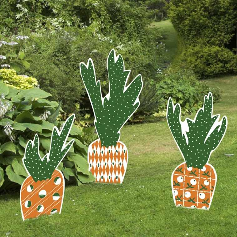 images de pâques carottes géantes déco jardin