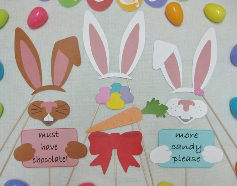 joyeuses pâques collage lapins déco oeufs