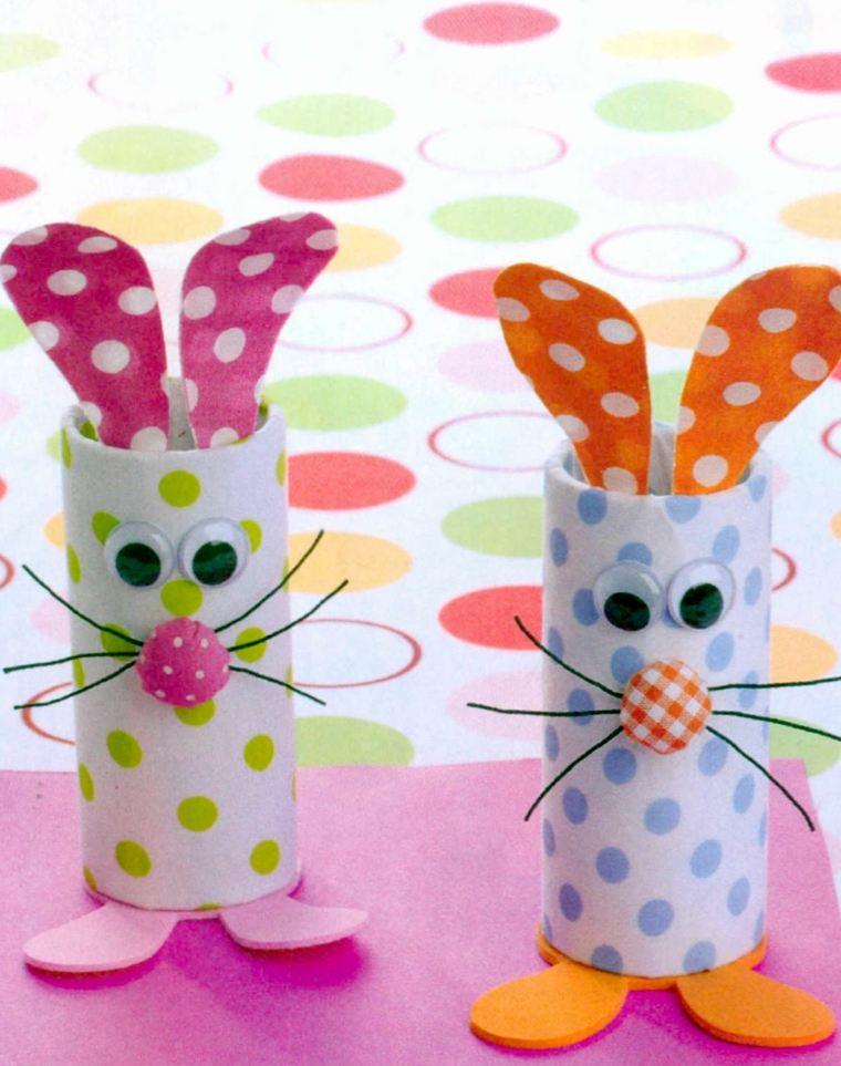 lapin de pâques carton papier boutons fils