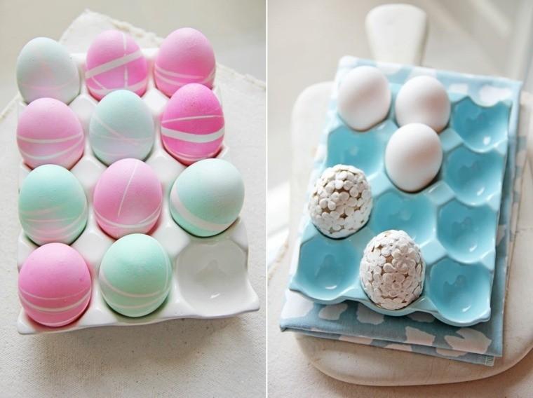 oeufs de pâques colorer soi-même couleurs pastel