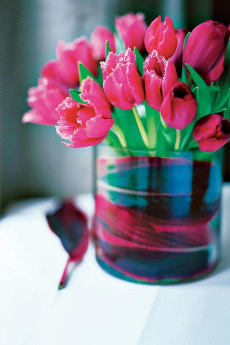déco paques idée bouquet fleurs diy idée vase déco table