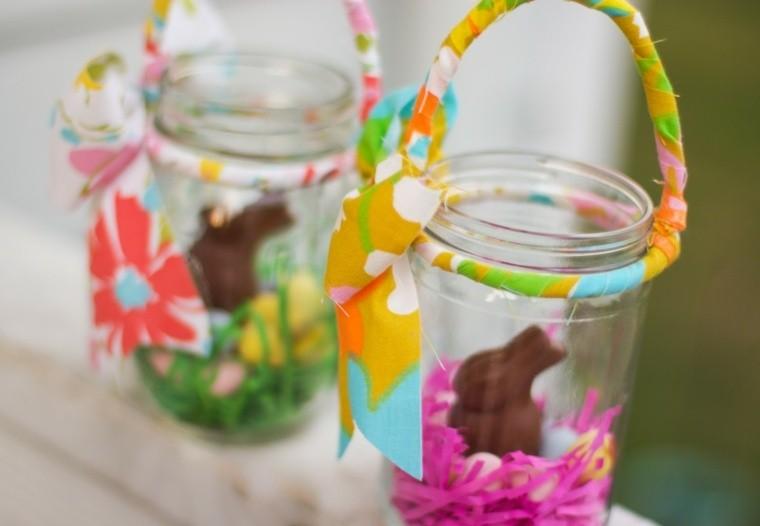 pâques déco verre chocolat papier couleurs