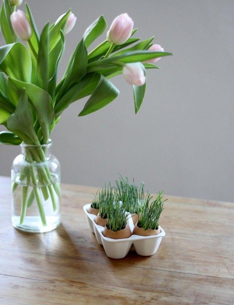 bouquet fleurs vase idée planter graines coquilles original
