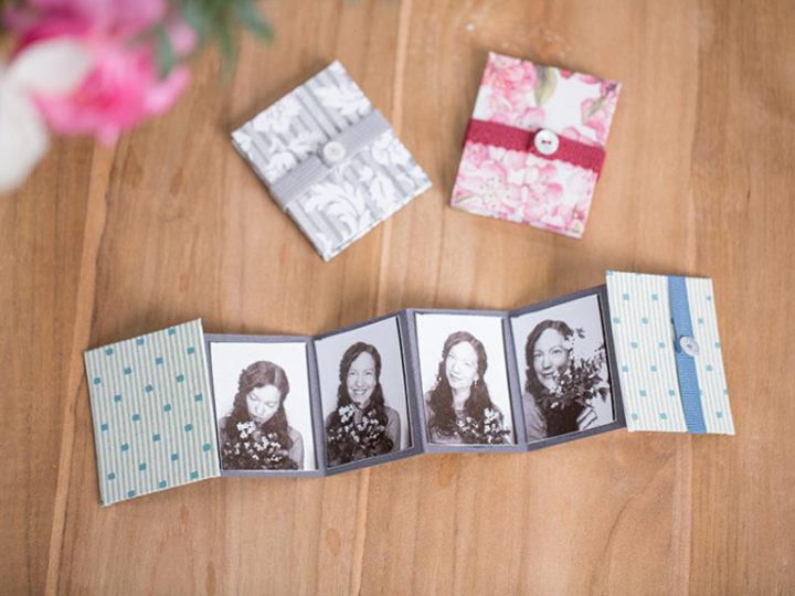 Fabriquer un mini-album photo en accordéon pour la Fête des Mères