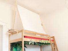 Fabriquer une tente à poser sur le lit en hauteur