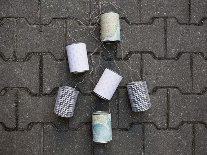 Mariage DIY : décorer des boîtes de conserve à accrocher à la voiture