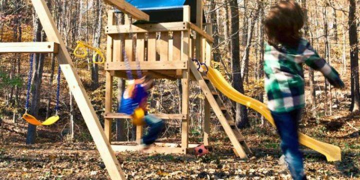 Aire de jeux en bois – un projet DIY que vos enfants vont adorer !