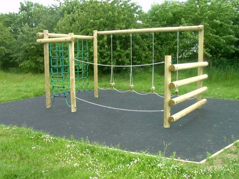 aire de jeux en bois et-corde-idee-diy