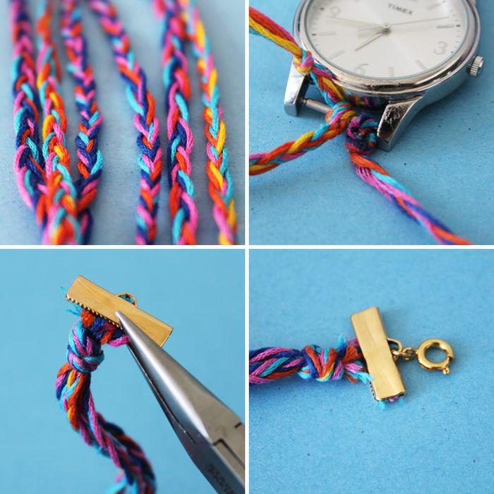 bracelet fait maison montre a creer soi meme activites manuelles