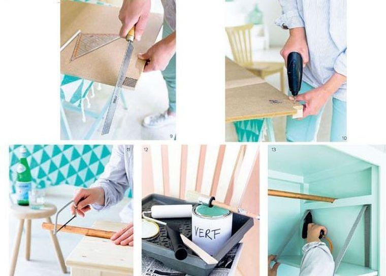 idee bricolage rangement chambre meuble diy deco tete de lit