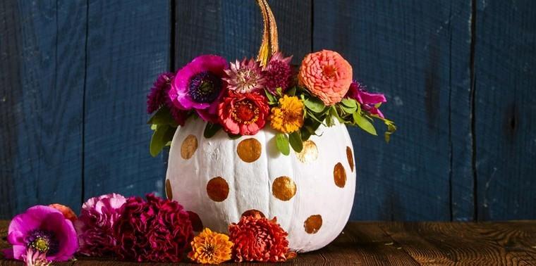 déco automne pas cher citrouille idée fleurs