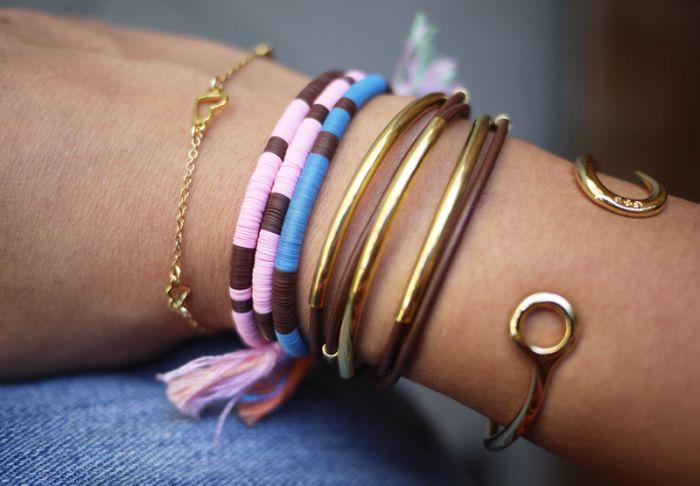 idée pour fabriquer un bracelet accessoires en corde diy