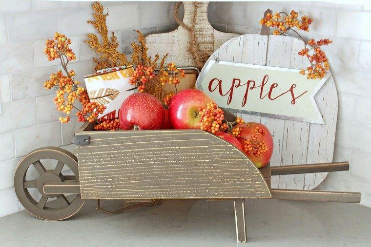 déco automne pas cher idée citrouille pommes