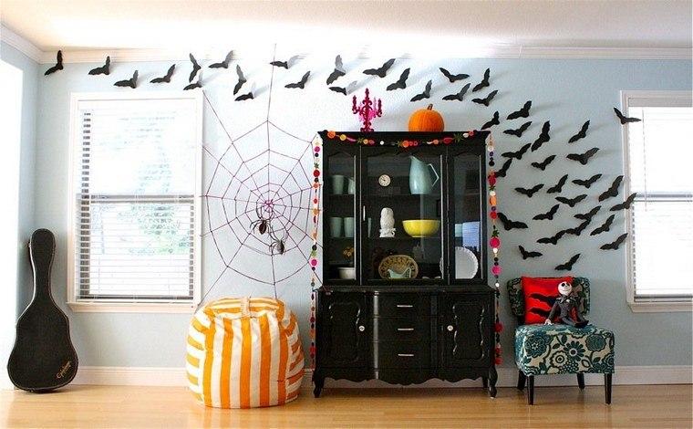 mur déco Halloween à fabriquer soi-même