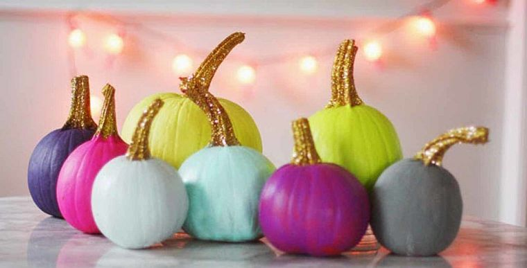 decoration-automne-citrouille-bricolage-glitter