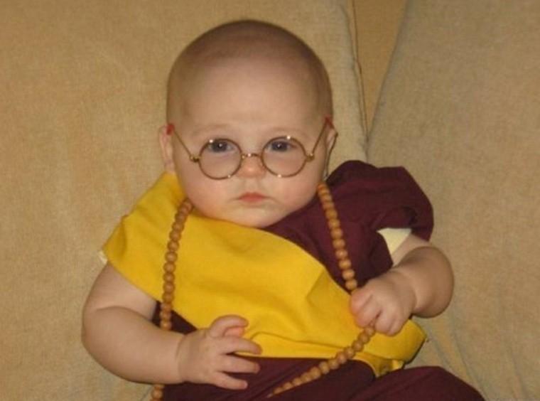 diy baby halloween costumes dalai-lama