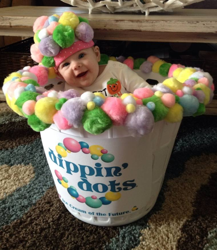 diy baby halloween costumes dippin-dots-creme-glacee