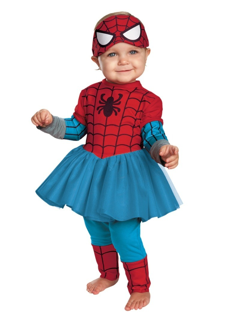 diy baby halloween costumes spider-fille