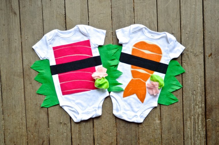 diy baby halloween costumes sushi-jumeaux