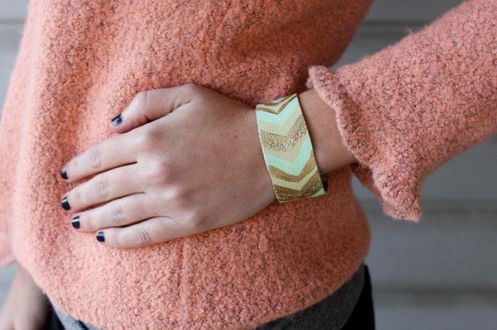 diy bracelet modele accessoire a faire soi meme textile